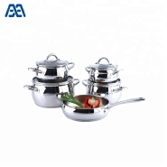 Kitchen accessories ss casserole cookware set