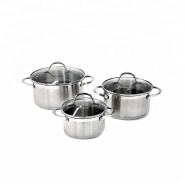 New fashionable high end stainless steel induction bottom cookware set