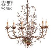 Crystal Material and E14 Light Source modern crystal chandelier