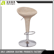 Customized Modern appearance rattan/wicker cover seat bar stool high chair with footrest