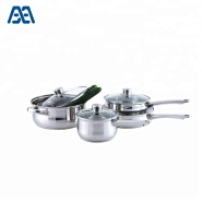 Promotion kitchen ss induction skillet cooking pot set