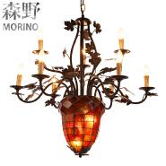 rustic 6 light honeycomb lamps for home decor dandelion light chandelier lighting