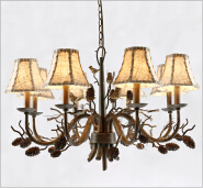 lodge decoration rustic bedroom lighting indoor use with leather shade