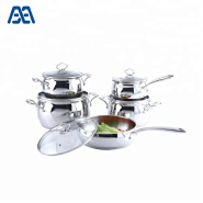 Low Price Apple Shape Casserole SS Cookware Set