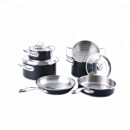 New Arrival Black Stainless Steel Cookware Set