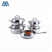 Personalized induction cooking pot stainless steel cookware set