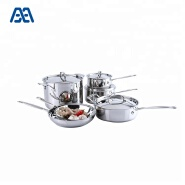 Different sizes stainless steel cooker set