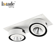 Double heads adjustable cob 330*150*72MM 50W led surface mounted downlights