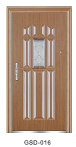 Yekalon GSD-011 Hot Sell Hot Quality Fashionable Design Glass Series Modern Steel Security Door