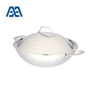 Household 3-ply stainless steel chinese wok