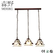 Glass shade LED bright ceiling light pendant lamp for hotel home restaurant