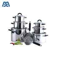 Luxury Eco Friendly Stainless Steel Cookware Set