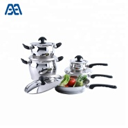 High quality heat resistant bakelite handle ss cookware set