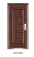 Yeakalon SDF-031 Frosted Heat Transfer Series Modern Salable Economical Steel SECURITY Door