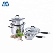 Multi size 4 pcs stainless steel cookware set
