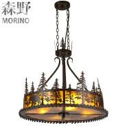 Vintage style big hanging iron chandelier for villa&bar