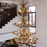 Wholesale Big Rustic Candle Polyresin Antique Banquet Hall Chandeliers for Project