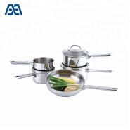 New design kitchen saucepan cookware set with glass lid