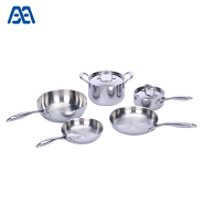 Upscale easy clean stainless steel kitchenware set