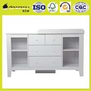 4-Drawer more storage space Kids Dresser With moveable Changing Table