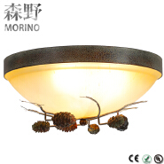 American country glass ceiling lamps,living room restaurant bedroom ceiling lamp