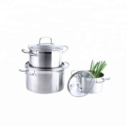 Newest soup pot straight shape stainless steel casserole set