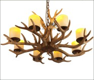 Mosaic glass decorative lighting of resin antlers wholesale lamps for hotel decoration