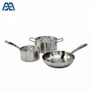 High quality stainless steel cooking pots and pans camping cookware set