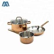 Durable healthy stainless steel cooking pot cookware set