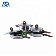 4 pcs non stick frying pan casserole cookware set