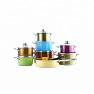 Newest colorful casserole stainless steel cookware set