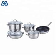 Non Stick Stainless Steel Cookware Cooking Pot And Pan Set