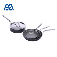 Professional level black stainless steel cookware set