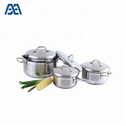 Better quality chef stainless steel soup pot casserole set