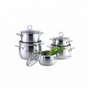 Eco-friendly stainless steel soup pot cookware set