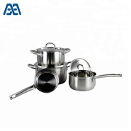 Newest Stainless Steel Cooking Pots And Pans Cookware Set