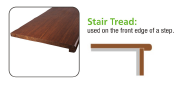 Brand New Quality Assured Latest Designs stair tread Flooring Accessories 1220*300*18/27mm