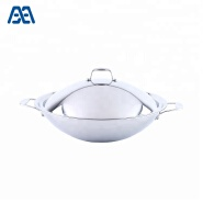 New Type Durable Cookware Tri-ply Stainless Steel Traditional Wok