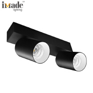 Double heads 2x9w led surface mounted downlight