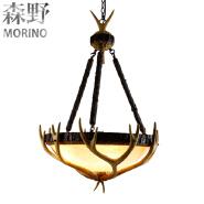 Antler Chandelier Antique Decorative large hanging Pendant Light