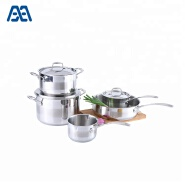 Wholesale casserole cooking pot set with riveted handle