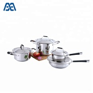 Health stainless steel saucepan cooking pot set