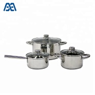 Straight Shape Induction Kitchenware Stainless Steel Cookware Set