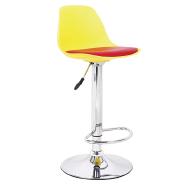 Wholesale Italian Design lounge Plastic High Bar Stools with metal base