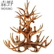 Antler Chandelier Antique Decorative Pendant Light Deer Antler Modern Chandelier For Xmas Hotel Lobb