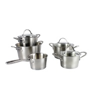 Stainless steel commercial cooking pot stew pot cookware set