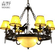 Rustic Chandeliers Farmhouse Lodge Cabin Lighting for log decoration