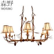 pine cone interior decoration lamps 6 light pendant light E27