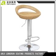 Most popular modern rattan/wicker bar high chair price
