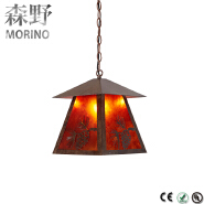 2018 New design Arabian Hotel/Restaurant Mica sheet pattern moroccan pendant lamp
